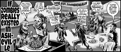 """If Zombies Lived In Asheville"" cartoon by Brent Brown"
