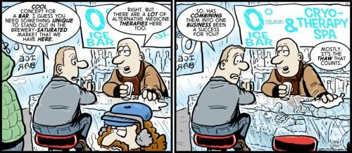 """""""Frozen Assets"""" cartoon by Brent Brown"""