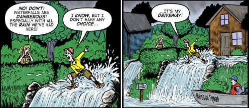"""""""Water Falls"""" cartoon ©2018 - Brent Brown"""