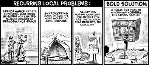 """""""Bold Solutions 1"""" cartoon by Brent Brown ©2018"""