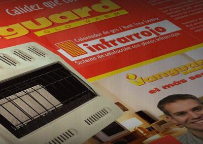 Diseño de empaque calentadores VANGUARD