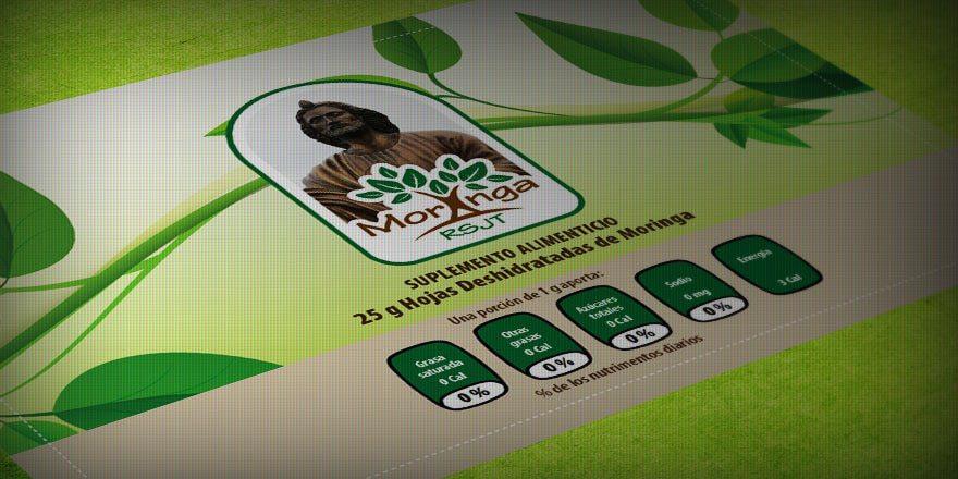 Diseño de etiqueta capsulas de Moringa RSJT
