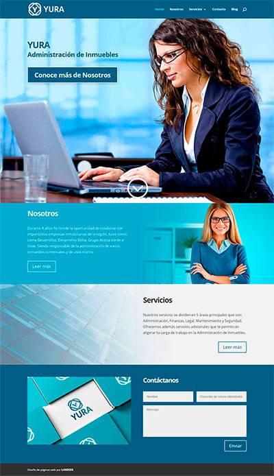 Diseño responsivo de página web YURA