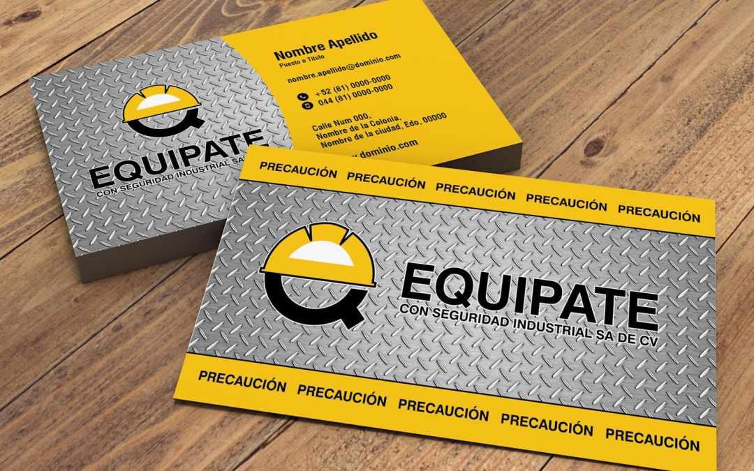 Diseño de tarjeta de presentación Equípate