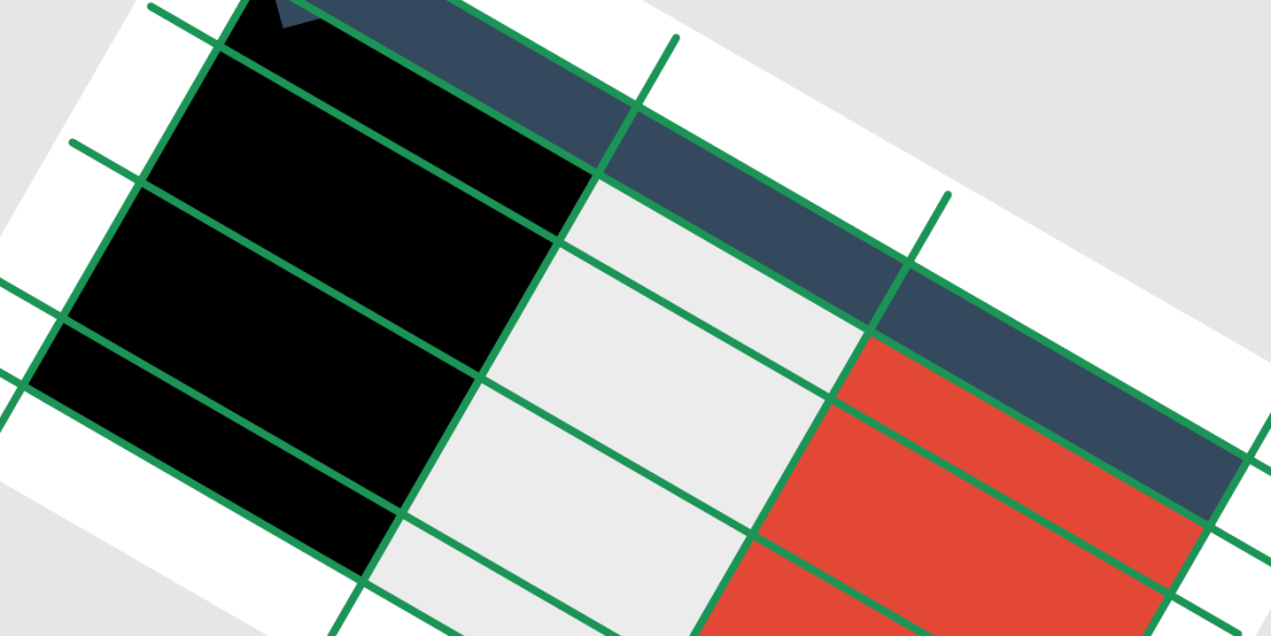 Melon Slides Template Grid Lines Example