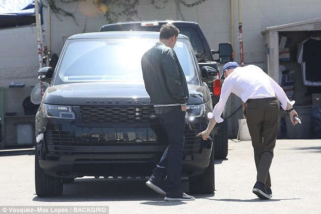 Ben Affleck can&#8217&#x3B;t stop smiling as he checks out brand new luxury car on his 46th birthday