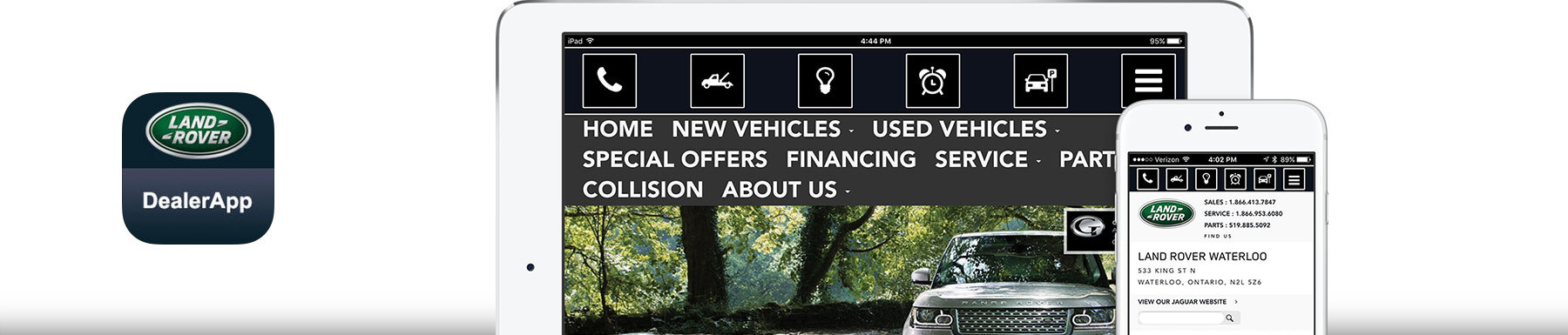 Get the Land Rover App Header Image