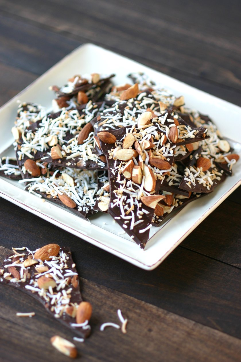 Chocolate BarkA recipe for Chocolate Bark that can be made quickly with minimal ingredients. Nuts, seeds, fruits, spices, herbs, and teas are all great toppings.