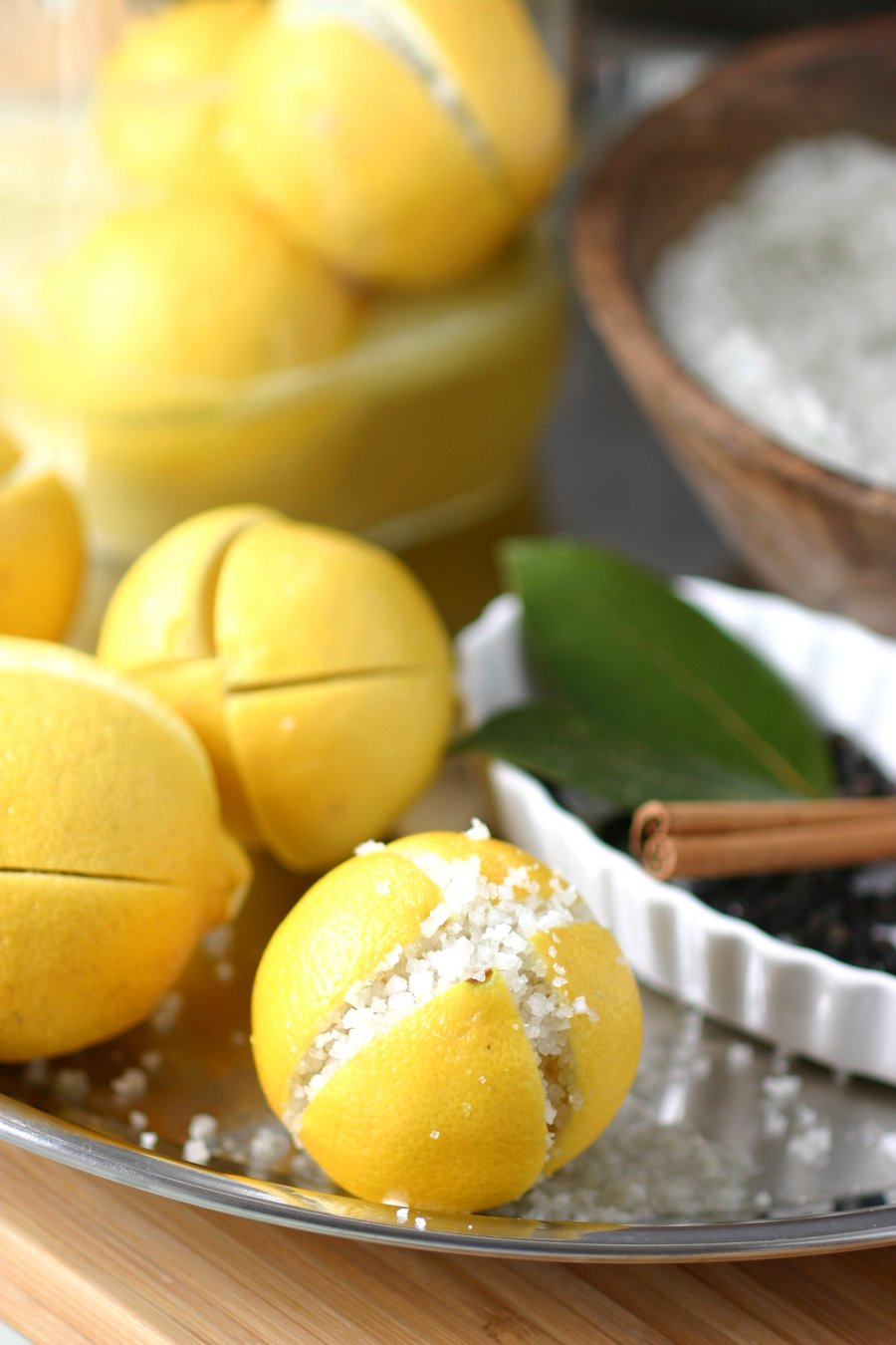 Give your favorite Moroccan and North African dishes that zesty, authentic taste with this really easy recipe for Homemade Preserved Lemons!