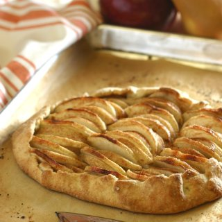 Apple and Pear Galette is a rustic yet elegant French dessert featuring a lightly spiced filling of tart apples and sweet pears embraced by a flaky crust. Vegan, too!