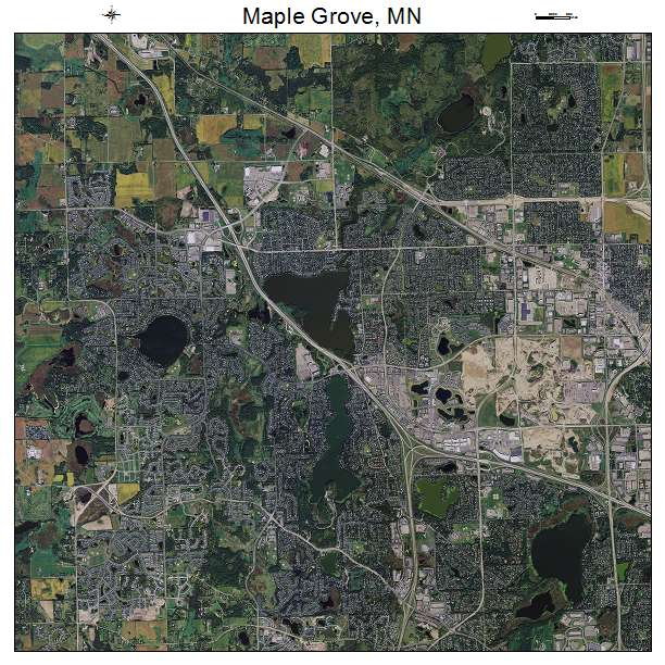 Aerial Photography Map of Maple Grove  MN Minnesota Maple Grove  MN air photo map