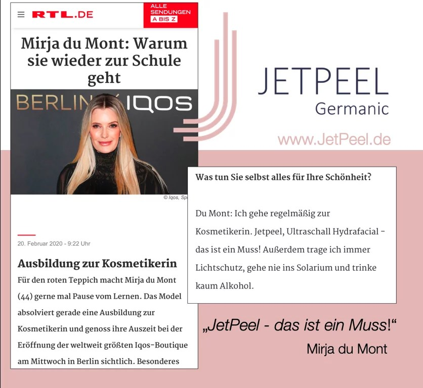 """Mirja du Mont zu RTL: """"JetPeel – das ist ein Muss!"""""""