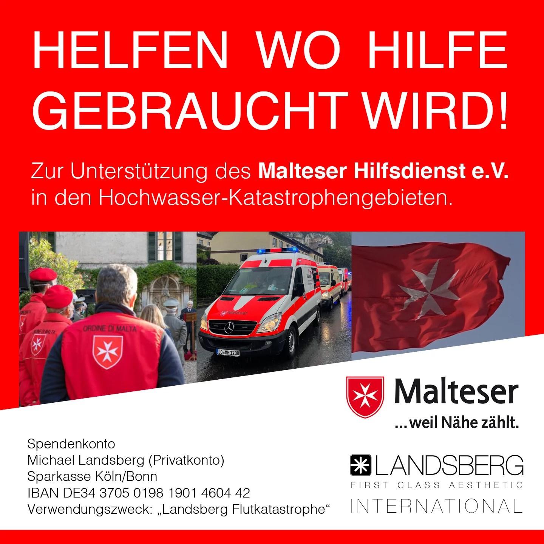 Helfen wo Hilfe gebraucht wird! Spenden für den Malteser Hilfsdienst e.V.