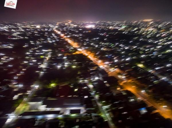 test foto aerial malam