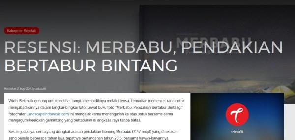Photobook Merbabu - resensi