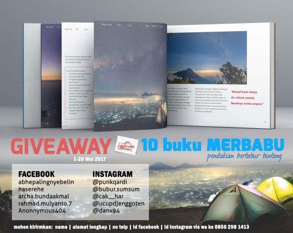 giveaway buku Merbabu