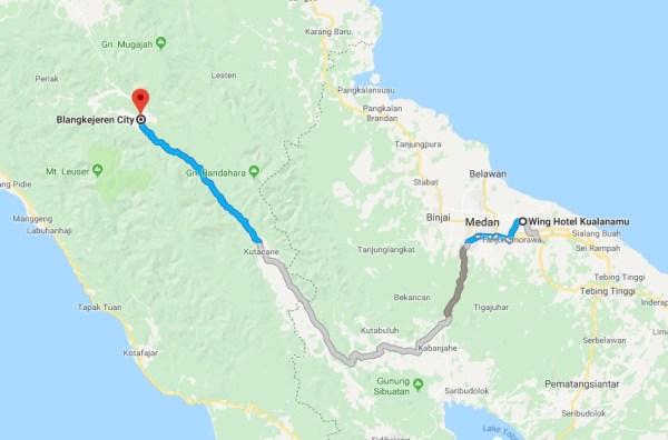 Screenshot 1566 - Perjalanan Medan - Blangkejeren jalur darat