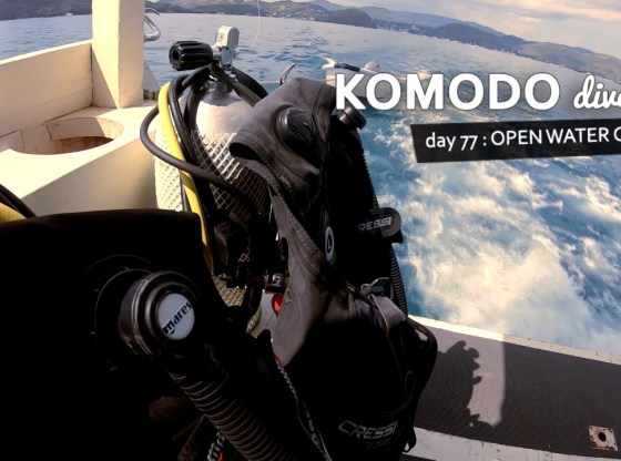 komodo77.mp4 snapshot 00.01 - Komodo Dive Log Day 77 : Open Water Course