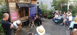 Jantine Wijnja presenteert Nederland Nu in Amsterdam bij onze vrienden van M4 gastatelier