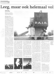 Leeg, maar ook DVHN 19 mei 2012