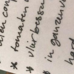 Handschrift studie