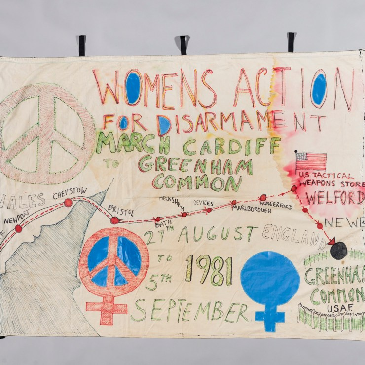 40 years ago today Women For Life On Earth started the protest against nuclear arms in Cardiff and walked all the way to Greenham Common, where the arms were kept.