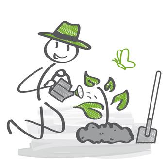 Pflanzenzucht im Garten für Landschildkröten