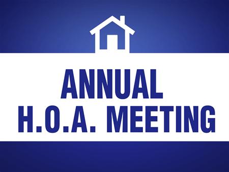 2018 Annual HOA Meeting