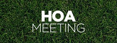 Notice of HOA Board of Directors Meeting