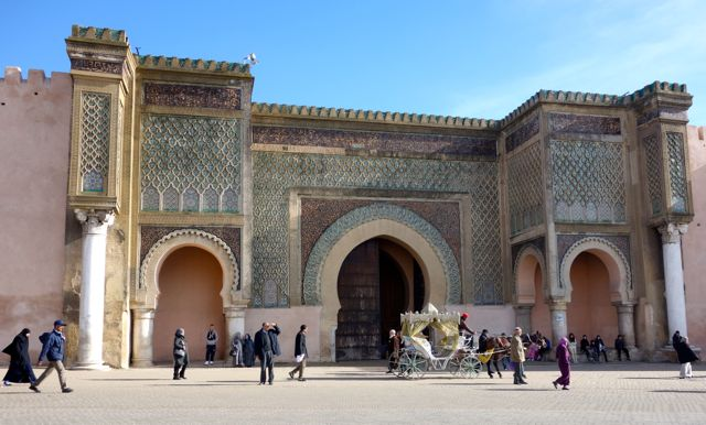 Yet another incredible gate surrounding the city of Meknes