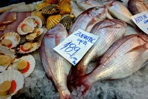 Zagreb hosts an active fish market