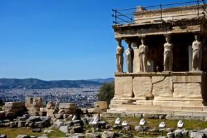 Athens below the Erechtheum