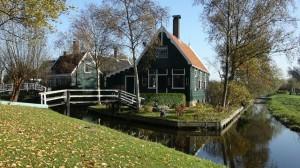 Typical Dutch canal house in Zaanse Schans