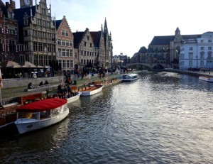 Primary canal in old town Ghent