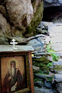 Entrance to the cave where St. Ivan is supposedly buried