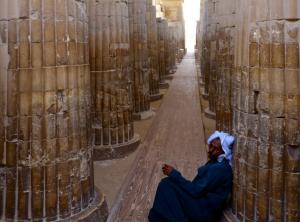 Escaping from the heat at the Funerary complex of Djoser
