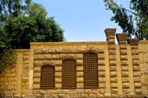 Roman wall of Babylon in Coptic Cairo