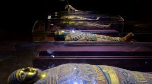 Sarcophagi in the Nubian Museum