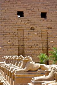 Phalanxed by Sphinxes at Karnak Temple