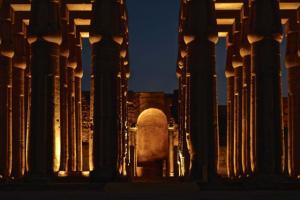 Nighttime colonnade