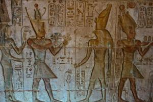 Painted hieroglyphs