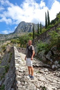 Hiking the mountain above Kotor