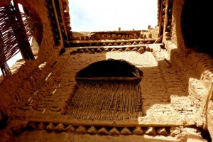 Interior courtyard of medieval kasbah