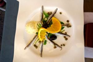 Fantastic anchovie starter plate