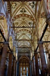 Interior of Sant' Anastasia