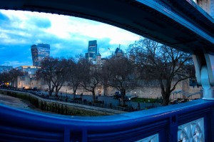 Looking back at the Tower of London from Tower Bridge