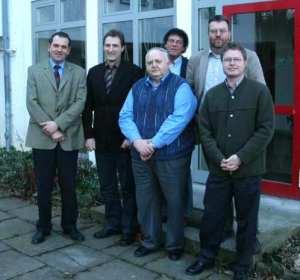 Carl Jürgen Conrad, Gerhard Rudolph, Horst Niemeier, Willi Teutsch, Achim Hübner, Dr. Bernd von Garmissen, Februar 2008