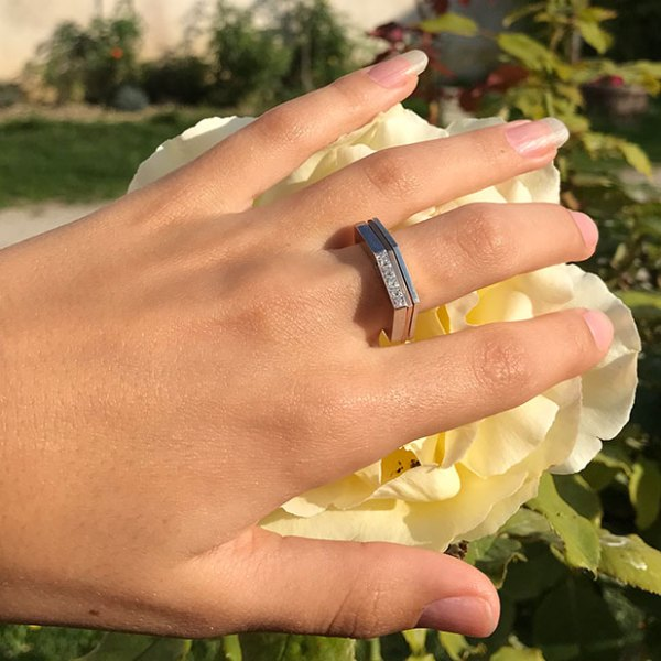 collection landy bague or rose or jaune