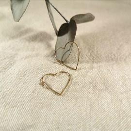Boucles d'oreilles coeur cadeau fête des mères La Rochelle