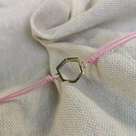 Bracelet Baby Landy lien rose création Landy joaillerie
